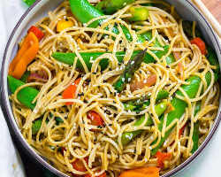 Vegetables With Fried Noodles