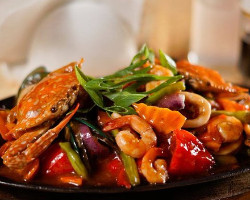 Mix Seafood Sizzling